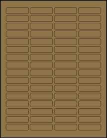 """Sheet of 1.813"""" x 0.5"""" Brown Kraft labels"""