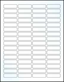 "Sheet of 1.813"" x 0.5"" Clear Gloss Laser labels"