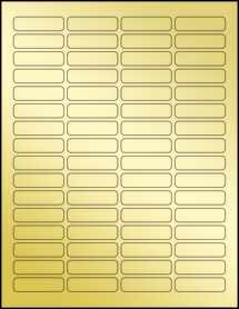 "Sheet of 1.813"" x 0.5"" Gold Foil Laser labels"