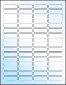 """Sheet of 1.813"""" x 0.5"""" White Gloss Inkjet labels"""