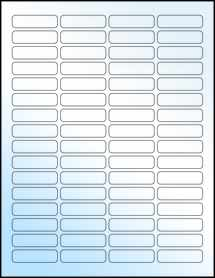 """Sheet of 1.813"""" x 0.5"""" White Gloss Laser labels"""