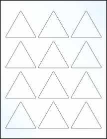 "Sheet of 2.5"" x 2.1651"" Clear Gloss Inkjet labels"