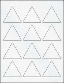 "Sheet of 2.5"" x 2.17"" Clear Matte Laser labels"