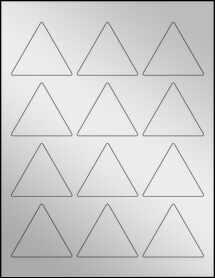 """Sheet of 2.5"""" x 2.1651"""" Silver Foil Laser labels"""