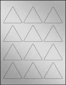 "Sheet of 2.5"" x 2.1651"" Weatherproof Silver Polyester Laser labels"