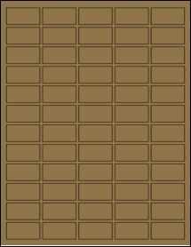 """Sheet of 1.5"""" x 0.75"""" Brown Kraft labels"""