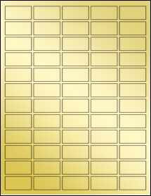 "Sheet of 1.5"" x 0.75"" Gold Foil Laser labels"