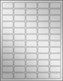"""Sheet of 1.5"""" x 0.75"""" Silver Foil Inkjet labels"""