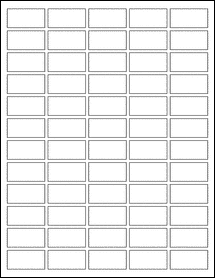 """Sheet of 1.5"""" x 0.75"""" Removable White Matte labels"""