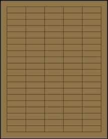 """Sheet of 1.5"""" x 0.5"""" Brown Kraft labels"""