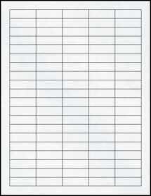 """Sheet of 1.5"""" x 0.5"""" Clear Matte Inkjet labels"""