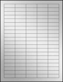 """Sheet of 1.5"""" x 0.5"""" Silver Foil Laser labels"""