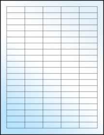 """Sheet of 1.5"""" x 0.5"""" White Gloss Inkjet labels"""