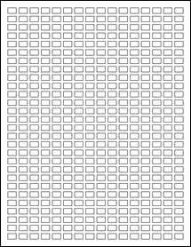 """Sheet of 0.375"""" x 0.25"""" Removable White Matte labels"""