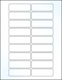 "Sheet of 3"" x 1"" Clear Gloss Inkjet labels"