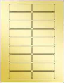 "Sheet of 3"" x 1"" Gold Foil Laser labels"