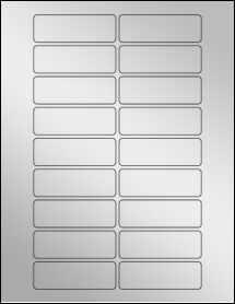 """Sheet of 3"""" x 1"""" Silver Foil Inkjet labels"""