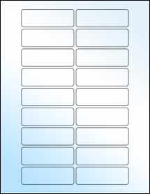 "Sheet of 3"" x 1"" White Gloss Inkjet labels"