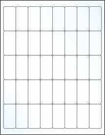 "Sheet of 1"" x 2"" Clear Gloss Inkjet labels"