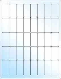"""Sheet of 1"""" x 2"""" White Gloss Inkjet labels"""