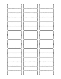 """Sheet of 2"""" x 0.625""""  labels"""