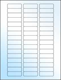 "Sheet of 2"" x 0.625"" White Gloss Laser labels"