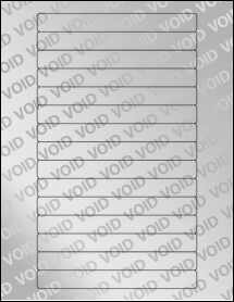 """Sheet of 5.85"""" x 0.6689"""" Void Silver Polyester labels"""
