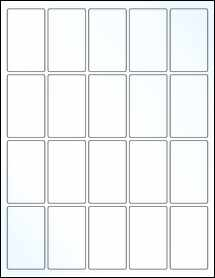 """Sheet of 1.5"""" x 2.5"""" Clear Gloss Laser labels"""