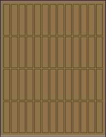 """Sheet of 0.5"""" x 2.5"""" Brown Kraft labels"""