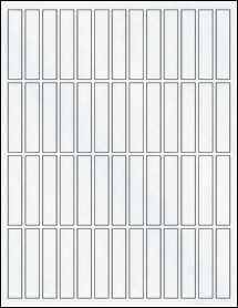 """Sheet of 0.5"""" x 2.5"""" Clear Matte Inkjet labels"""