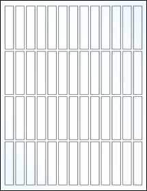 """Sheet of 0.5"""" x 2.5"""" Clear Gloss Laser labels"""