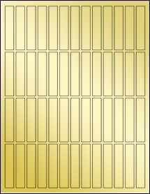 """Sheet of 0.5"""" x 2.5"""" Gold Foil Inkjet labels"""