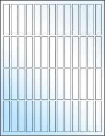 """Sheet of 0.5"""" x 2.5"""" White Gloss Inkjet labels"""