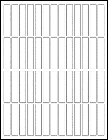 """Sheet of 0.5"""" x 2.5"""" Removable White Matte labels"""