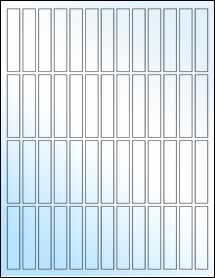 """Sheet of 0.5"""" x 2.5"""" White Gloss Laser labels"""