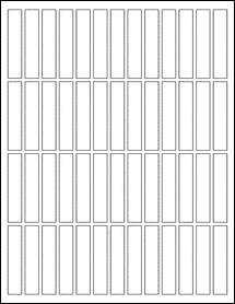 "Sheet of 0.5"" x 2.5"" Aggressive White Matte labels"