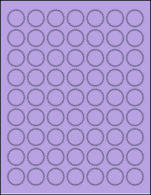 "Sheet of 1"" Starburst True Purple labels"