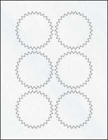 "Sheet of 3"" Starburst Clear Matte Inkjet labels"