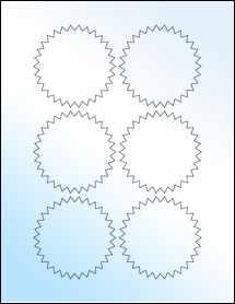 """Sheet of 3"""" Starburst White Gloss Laser labels"""