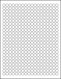 """Sheet of 0.375"""" x 0.375""""  labels"""