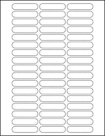 """Sheet of 2.125"""" x 0.5""""  labels"""