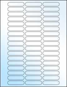"""Sheet of 2.125"""" x 0.5"""" White Gloss Inkjet labels"""