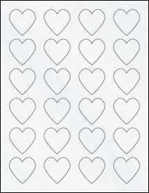"""Sheet of 1.5"""" x 1.5"""" Clear Matte Inkjet labels"""
