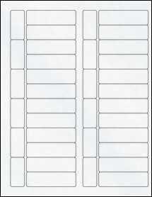 """Sheet of 2.8"""" x 0.83"""" Clear Matte Inkjet labels"""
