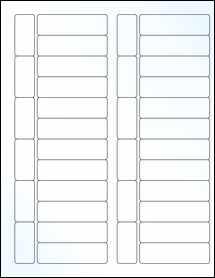 "Sheet of 2.7953"" x 0.8268"" Clear Gloss Inkjet labels"