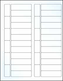 """Sheet of 2.7953"""" x 0.8268"""" Clear Gloss Laser labels"""