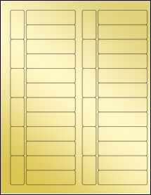 """Sheet of 2.7953"""" x 0.8268"""" Gold Foil Inkjet labels"""