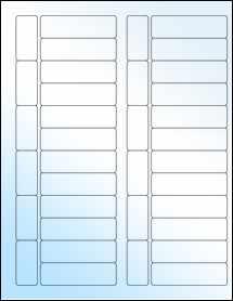 """Sheet of 2.7953"""" x 0.8268"""" White Gloss Inkjet labels"""