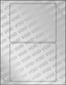 """Sheet of 6"""" x 5"""" Void Silver Polyester labels"""