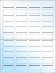 "Sheet of 1.75"" x 0.7"" White Gloss Inkjet labels"